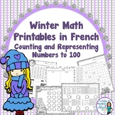 Winter Math Printables in French - Counting and Representi