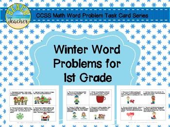 Winter (Dec.-Feb.) Word Problems for 1st Grade Bundled (TA