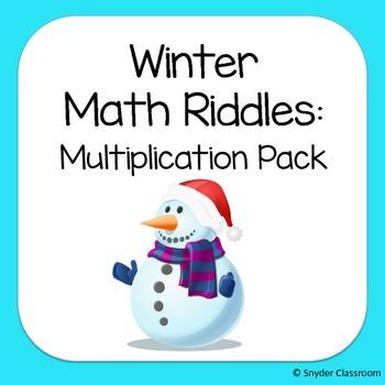 Winter Multiplication Math Riddles