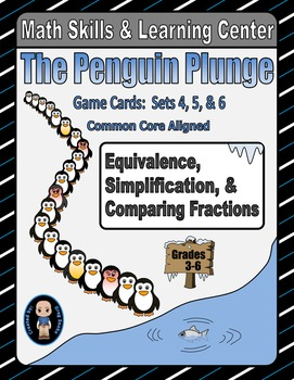 Penguin Plunge Game Cards (Simplify & Compare Fractions) S
