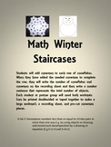 Winter Math Staircases