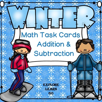 Winter Math Task Cards / Addition and Subtraction Facts to 20