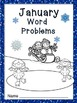 Math Word Problems for January - Grades 2 -3