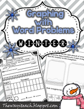 Winter Math: {Word Problems, Graphing, and Equal Shares}