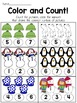 Winter Math Worksheets- Kindergarten
