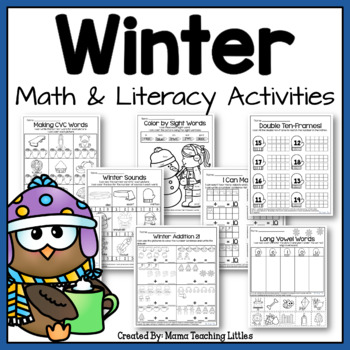 Winter Activities Bundle - Math and Literacy - Print and G