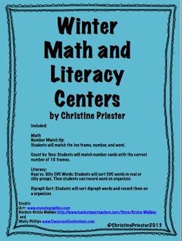 Winter Math and Literacy Center