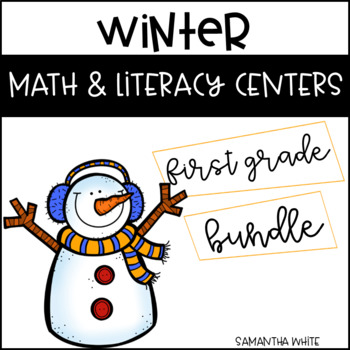 Winter Math and Literacy Centers {Bundle}