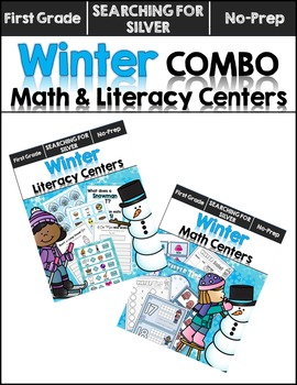 Winter Math and Literacy Centers COMBO {First Grade}