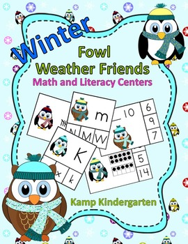 Winter Math and Literacy Centers with Fowl Weather Friends