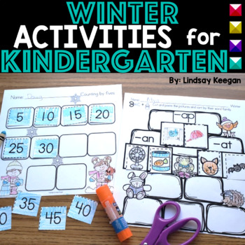 Winter Math and Literacy Printables for Kindergarten