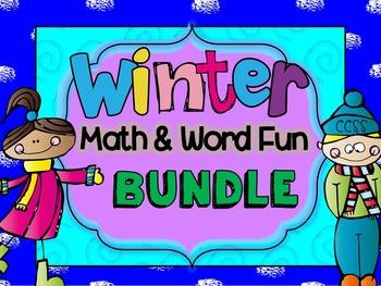 Winter Math and Word Fun BUNDLE (Kindergarten and First Grade)