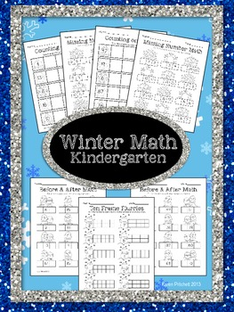 Winter Math - sequencing, missing number, counting on, & t