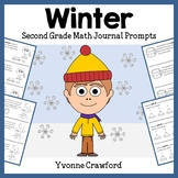 Winter Math Journal Prompts (2nd grade) - Common Core