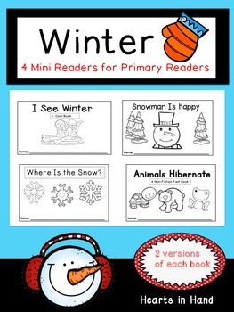 Winter Mini Readers For Primary Readers (K-2)