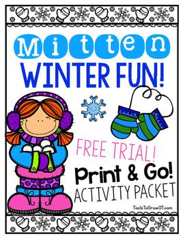 Winter Mitten FUN! Roll & Color/Colour