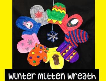 Winter Mitten Wreath