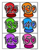 Winter Mittens: Skip Counting by 5's - Card Sort Center an