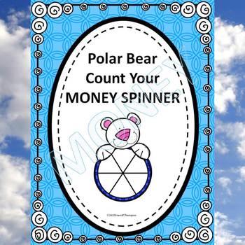 Winter Money Activity: Count Money (Polar Bear Spinner)