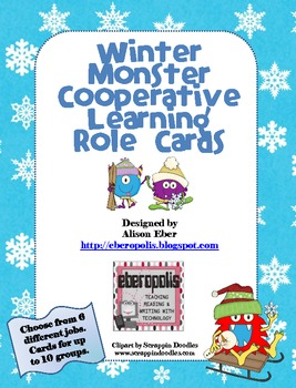Winter Monster Cooperative Learning Role Cards