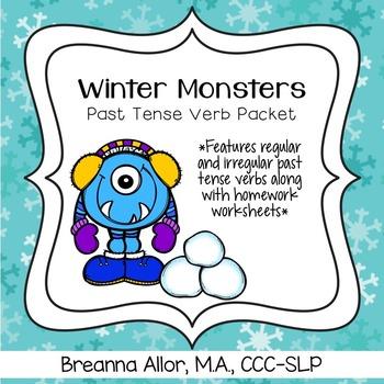 Winter Monsters Past Tense Verb Packet