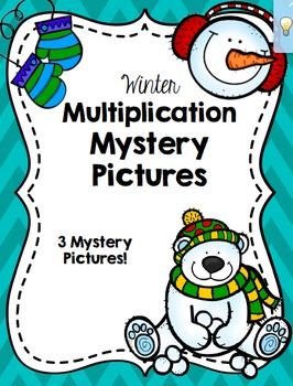 Winter Multiplication Mystery Picture Set