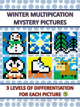 Winter Multiplication Mystery Pictures