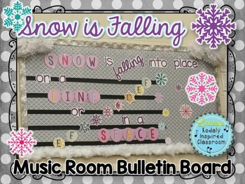 Winter Music Bulletin Board {Treble Lines and Spaces}