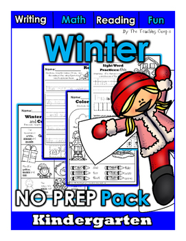 Winter NO PREP Kindergarten Superpack!