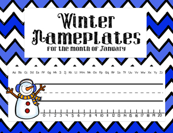 Winter Nameplates