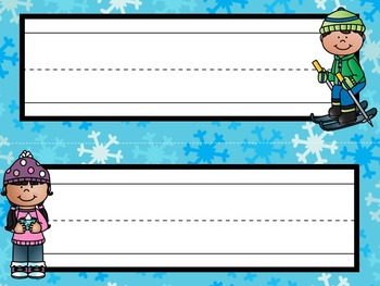 Nameplates / Deskplates / Classroom Labels {Winter}