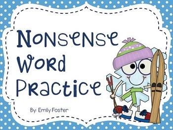 Nonsense Word Fluency Powerpoint for Dibels - Winter theme