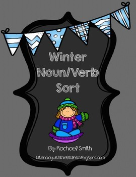 Winter Noun and Verb Sort