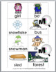 Nouns and Verbs Sort - Winter Theme - Winter Activity