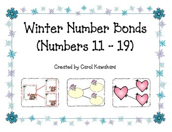 Number Bonds for Winter, Numbers 11-19