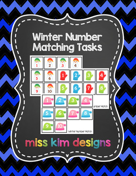 Winter Number Matching Folder Games for students with Autism