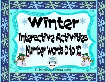 Winter – Number Words 0 to 10. Interactive Activities. CCS