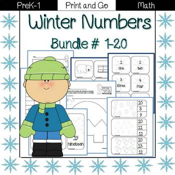 Winter Numbers: 1-20