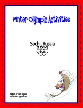 Winter Olympic Activities - Sochi 2014