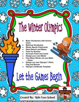 Winter Olympic Fun Package-ENGLISH Resource! Great for ESL