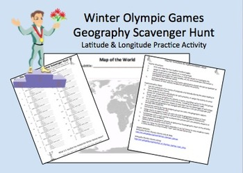 Greek Games Latitude & Longitude Geography Review Activity