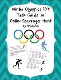 Winter Olympics 2014 Task Cards or Online Scavenger Hunt B