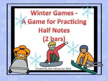 Winter Games - A Game for Practicing Half Notes (2 bars)