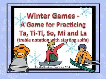 Winter Games - A Game for Practicing Ta, Ti-Ti and so, mi,