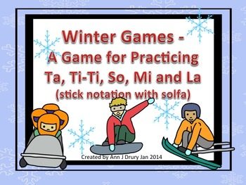 Winter Games - A Game for Practicing Ta, Ti-Ti and so, mi,