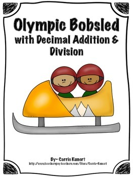 Winter Sports Bobsled with Decimal Addition and Division (