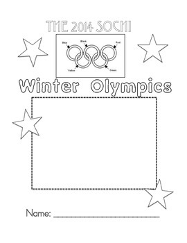 Winter Olympics Booklet