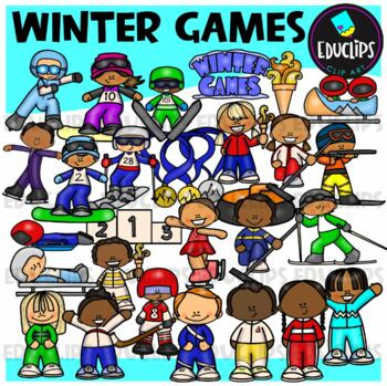Winter Sports Clip Art Bundle {Educlips Clipart}