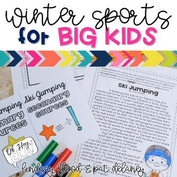 Winter Olympics ELA Activities for BIG KIDS! {3rd, 4th and