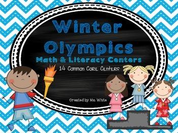 Winter Olympics Math & Literacy Centers {14 Common Core Al